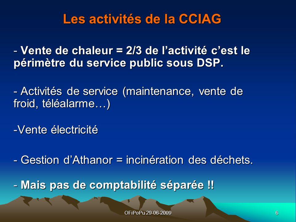 Les activités de la CCIAG