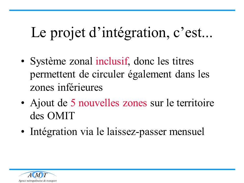 Le projet d'intégration, c'est...