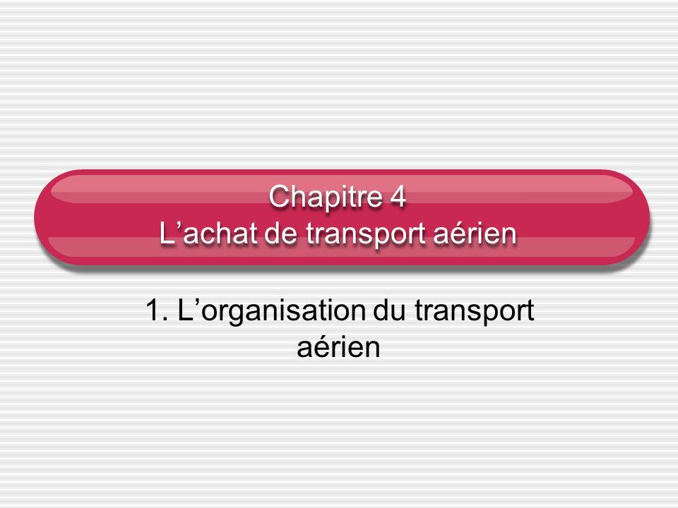Chapitre 4 L'achat de transport aérien