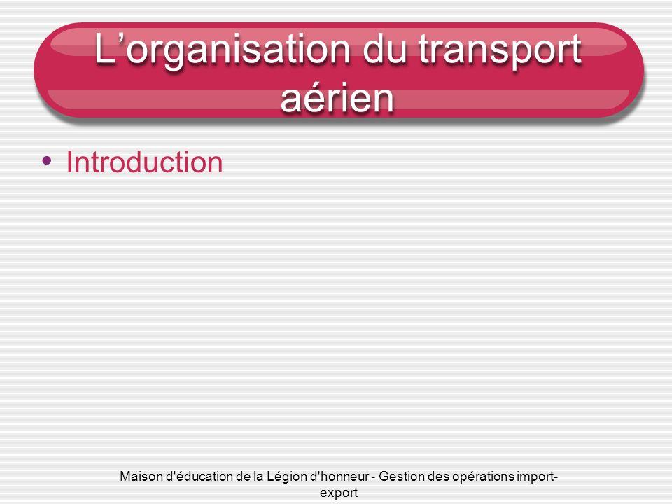 L'organisation du transport aérien