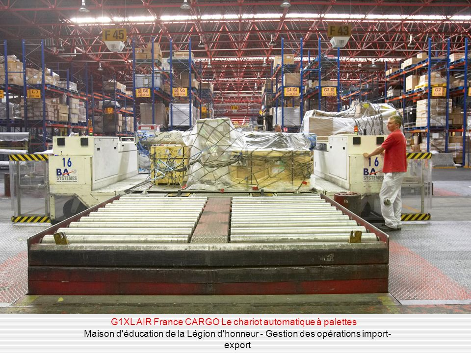 G1XL AIR France CARGO Le chariot automatique à palettes