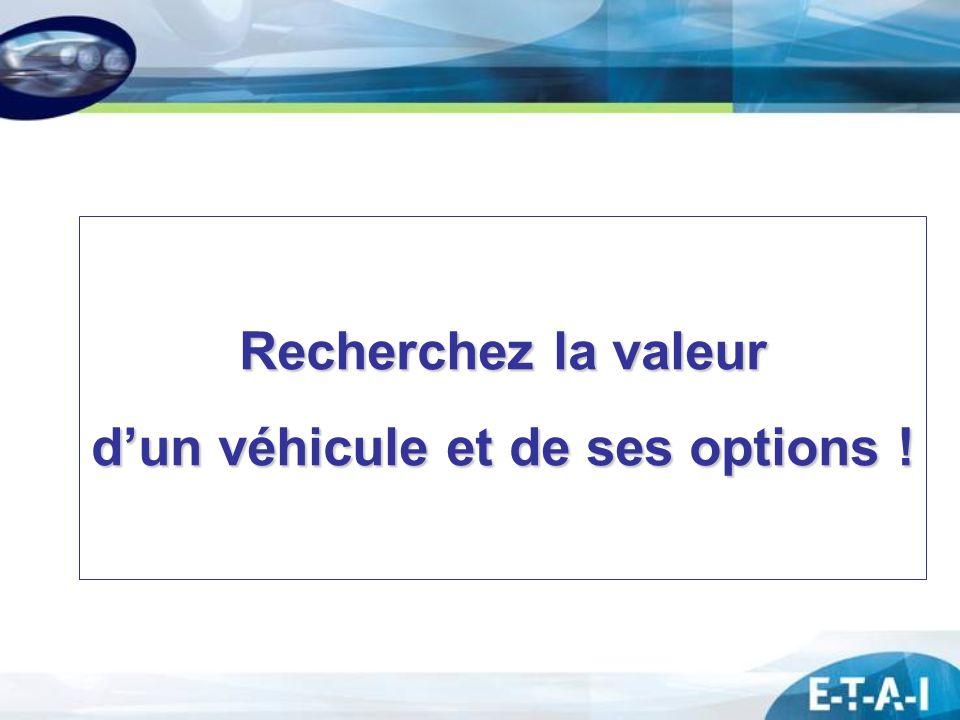 d'un véhicule et de ses options !