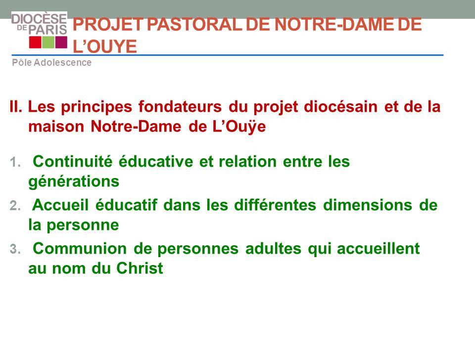 PROJET PASTORAL DE NOTRE-DAME DE L'OUYE