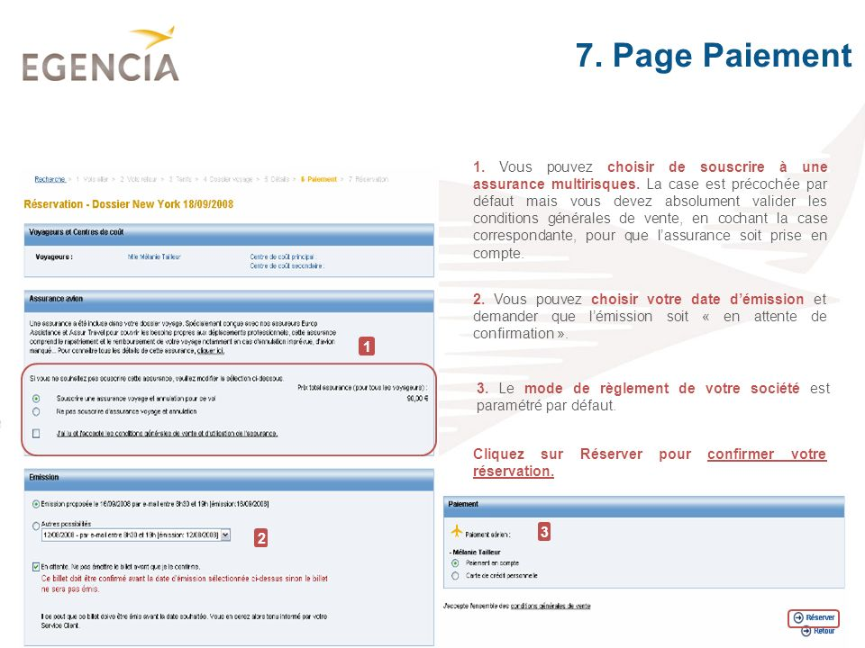 7. Page Paiement