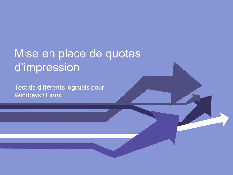 Mise en place de quotas d'impression