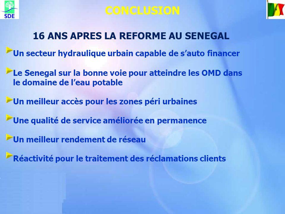 16 ANS APRES LA REFORME AU SENEGAL