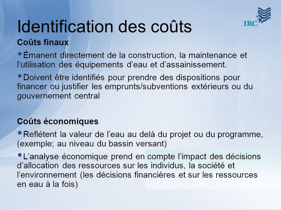 Identification des coûts
