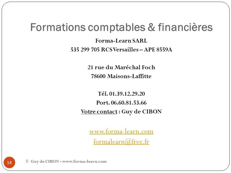 Formations comptables & financières