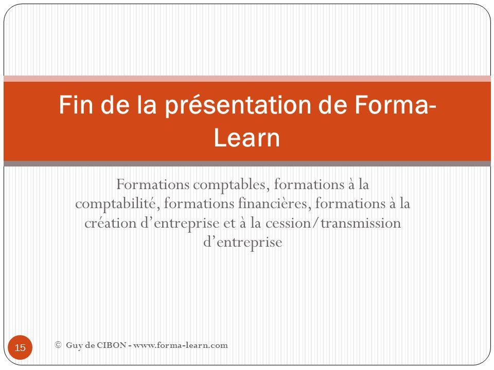 Fin de la présentation de Forma-Learn
