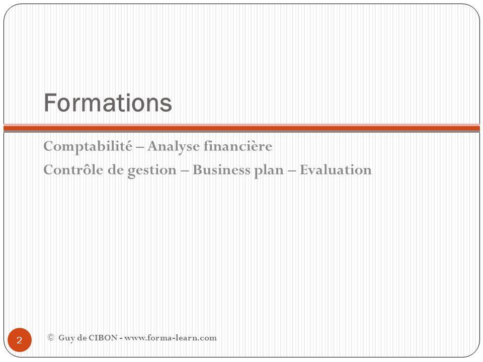 Formations Comptabilité – Analyse financière