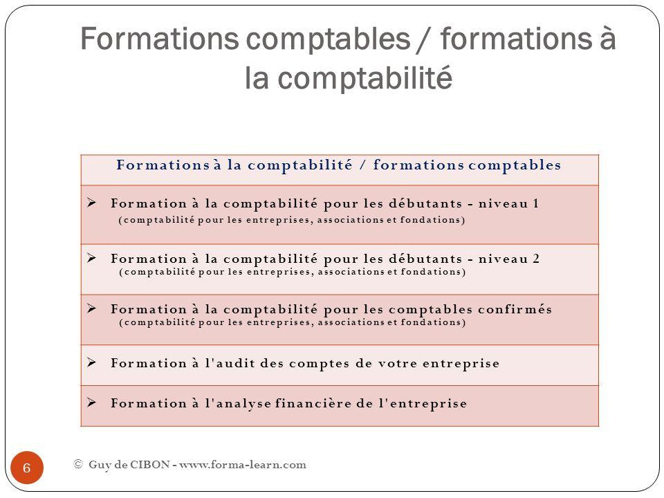 Formations comptables / formations à la comptabilité