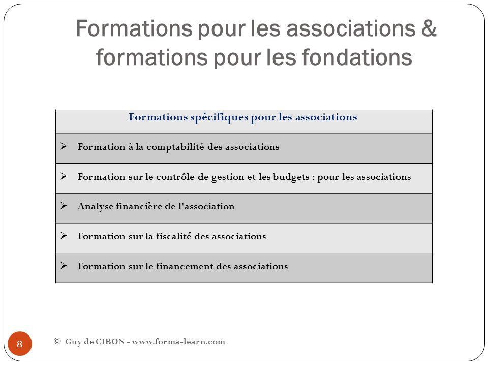 Formations pour les associations & formations pour les fondations