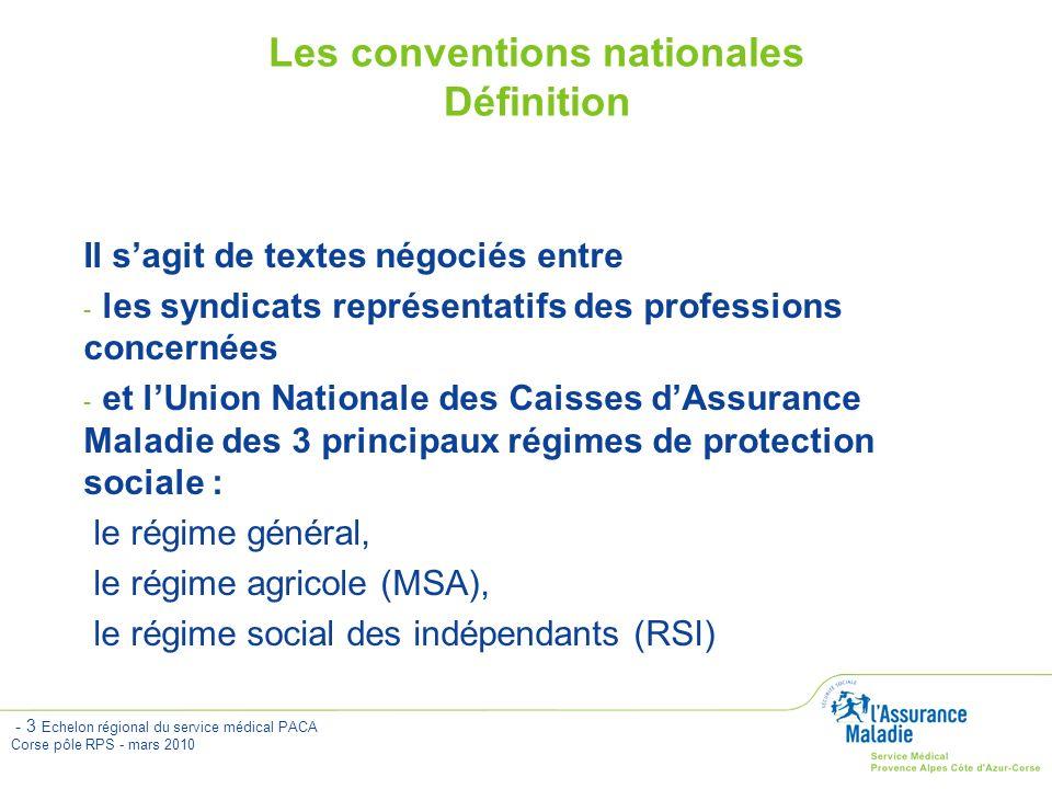 Les conventions nationales Définition