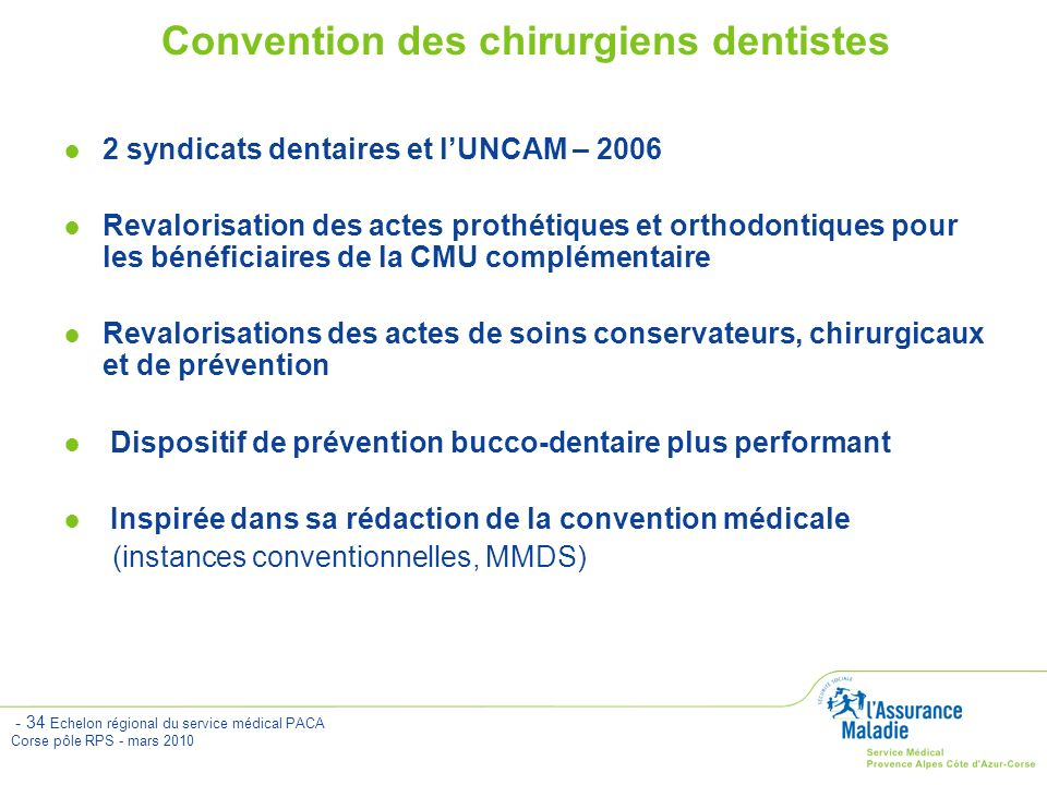 Convention des chirurgiens dentistes