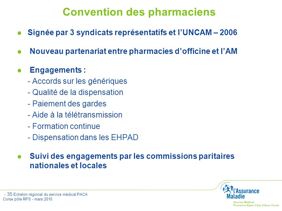 Convention des pharmaciens