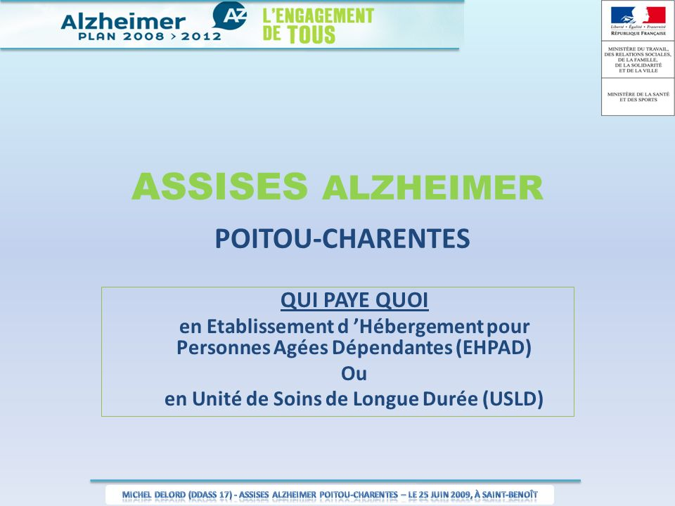 ASSISES ALZHEIMER POITOU-CHARENTES