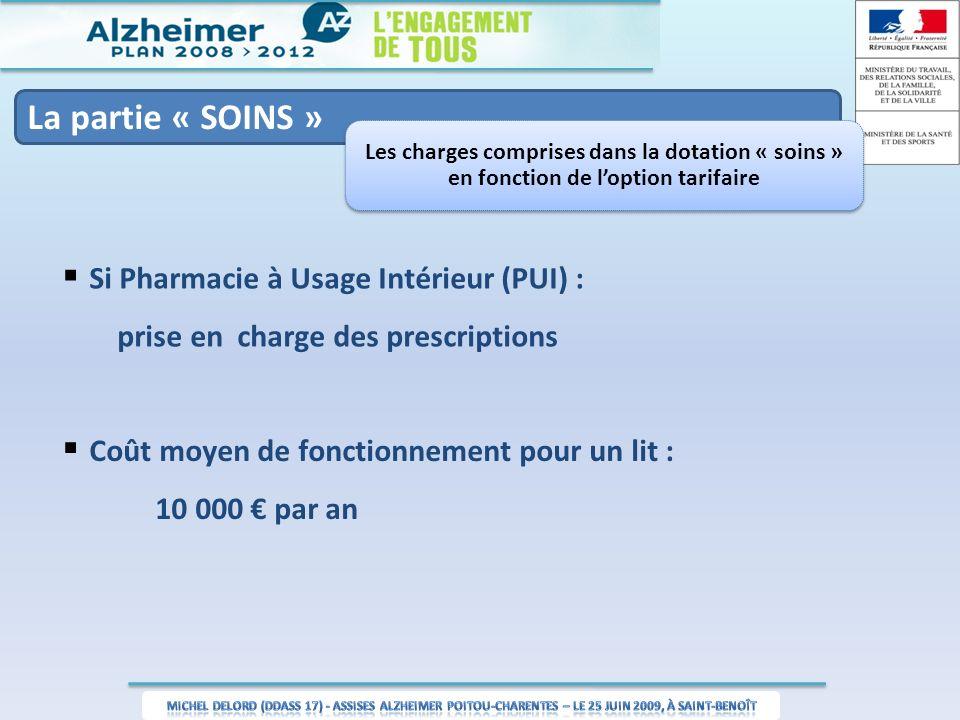 Si Pharmacie à Usage Intérieur (PUI) :