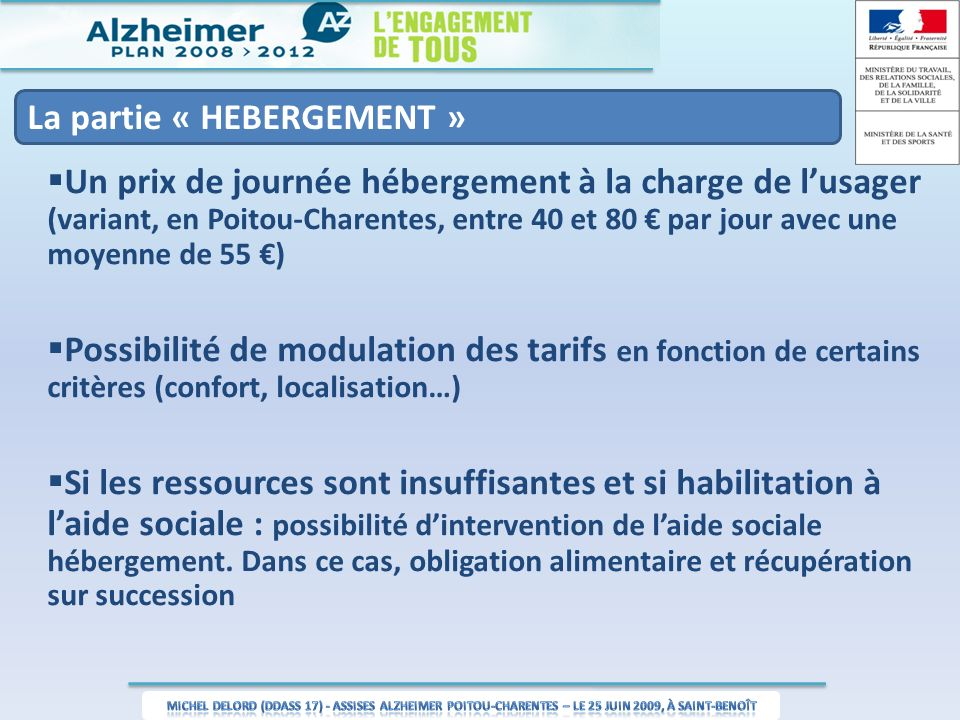 aide sociale hebergement recuperation