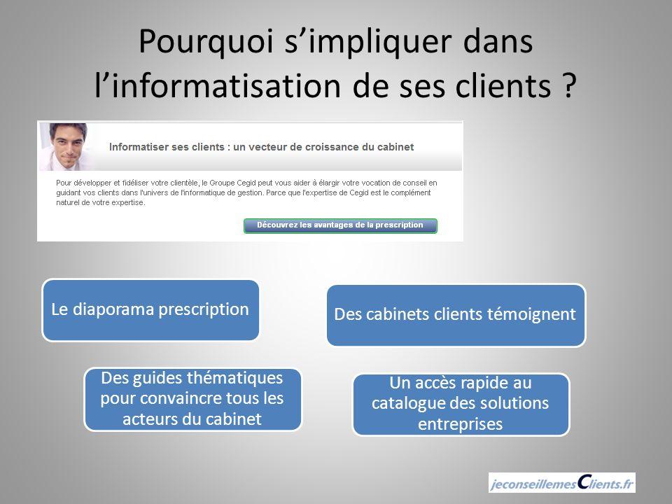 Pourquoi s'impliquer dans l'informatisation de ses clients