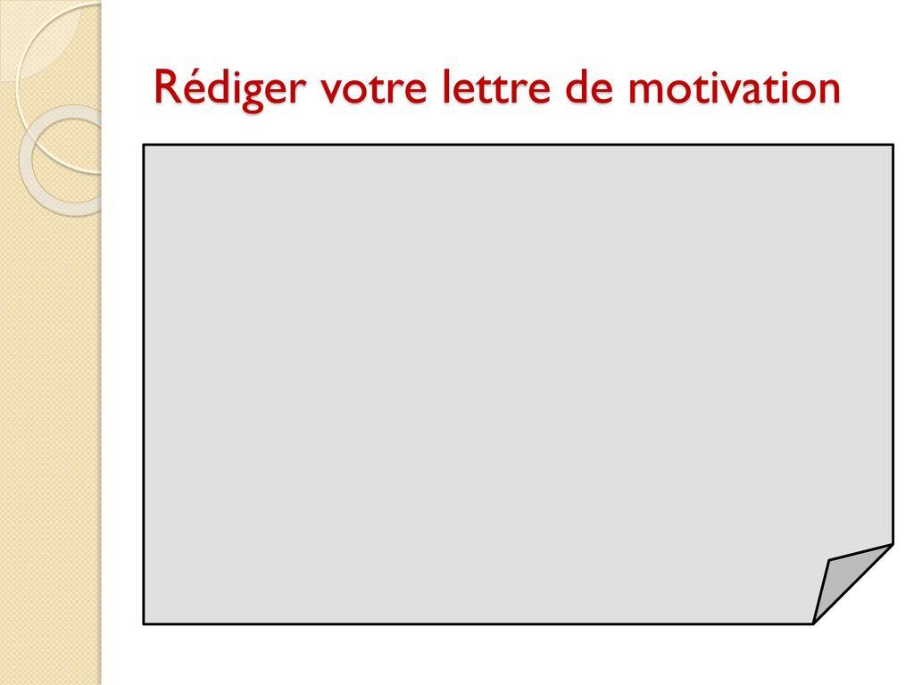 conseils pour r u00e9diger une lettre de motivation