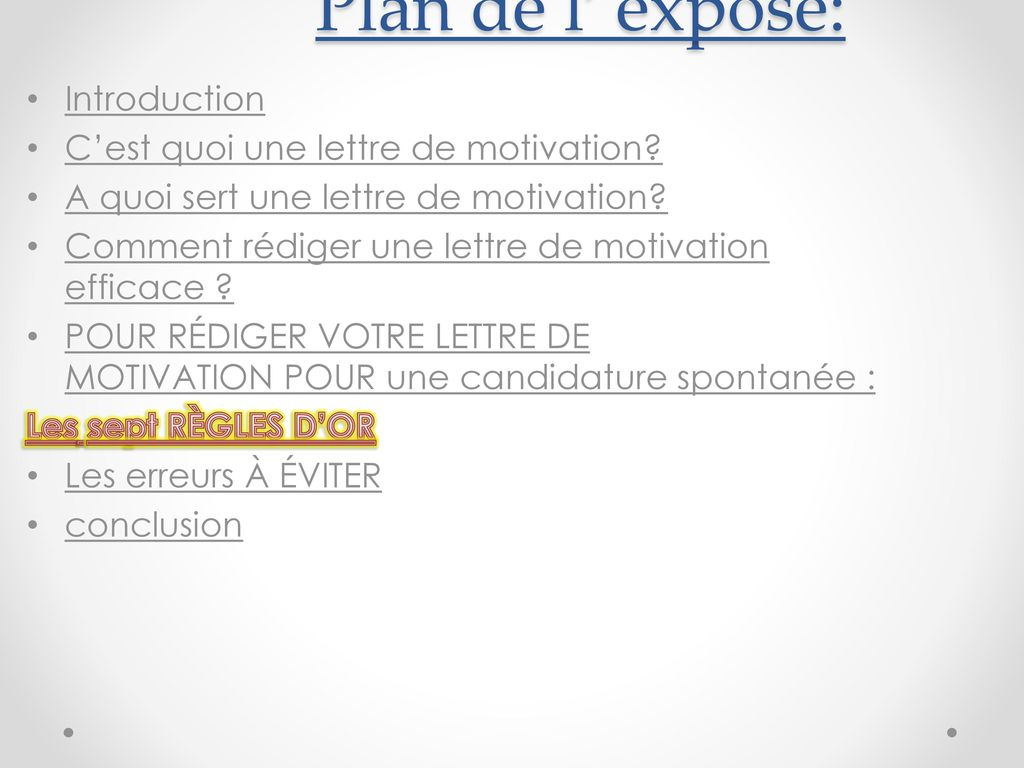 Lettre de motivation spontan e ppt video online t l charger for Une loggia c est quoi