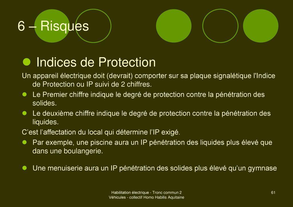 V hicules et engins nergie lectrique embarqu e ppt - Indice de protection electrique ...