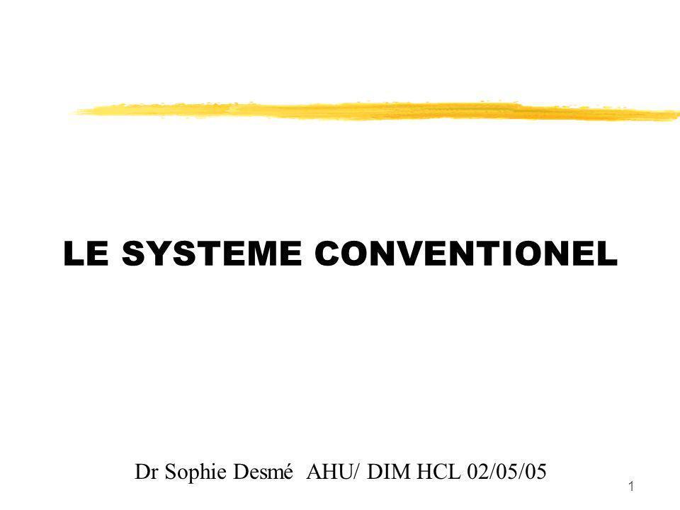 LE SYSTEME CONVENTIONEL