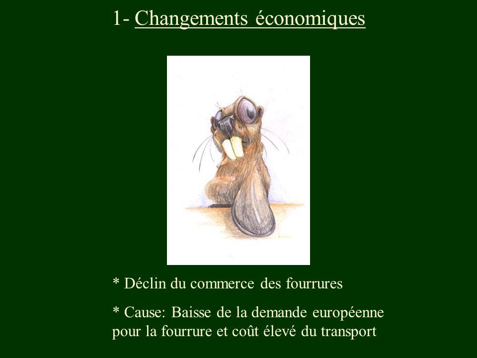 1- Changements économiques