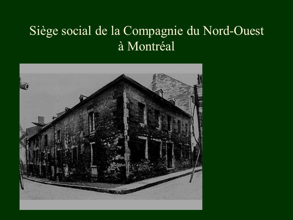 Siège social de la Compagnie du Nord-Ouest à Montréal