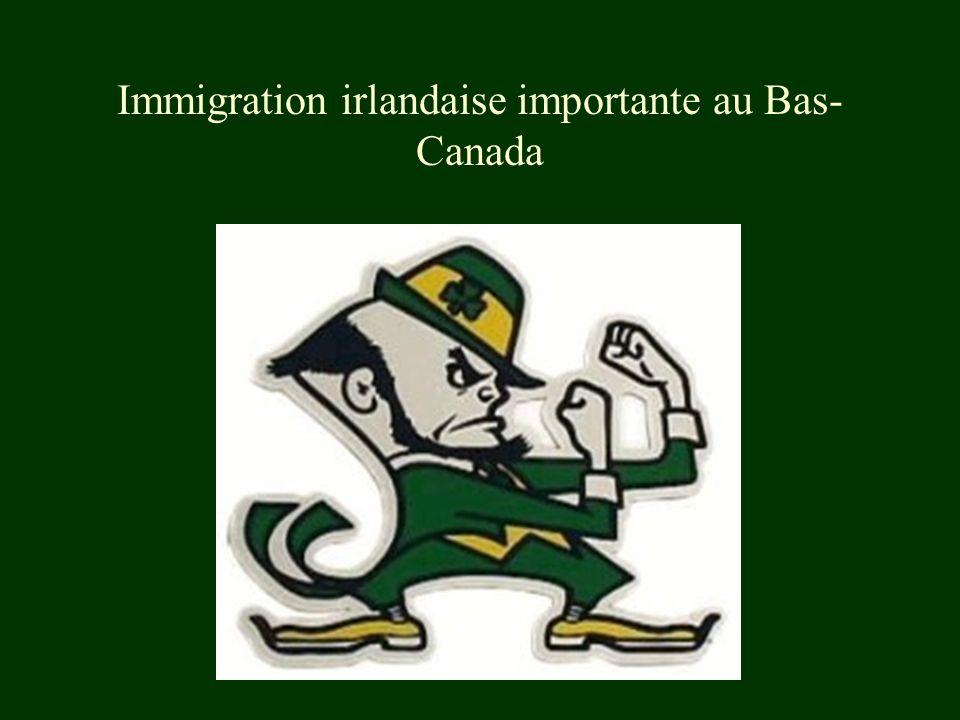 Immigration irlandaise importante au Bas-Canada