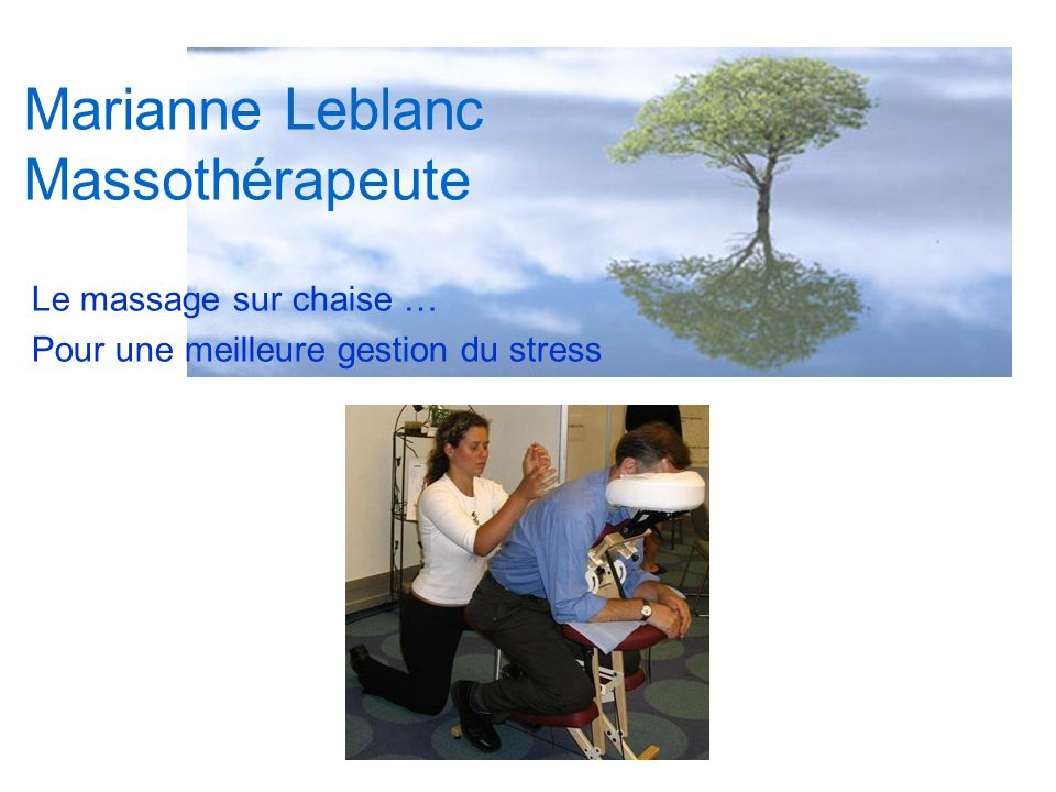 Marianne Leblanc Massothérapeute