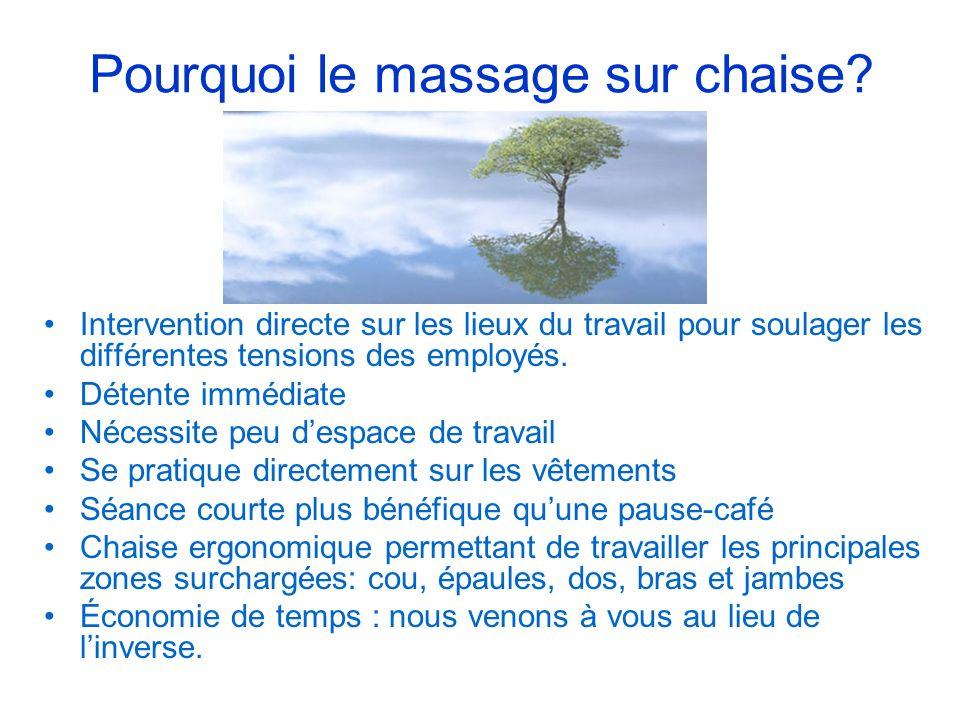Pourquoi le massage sur chaise