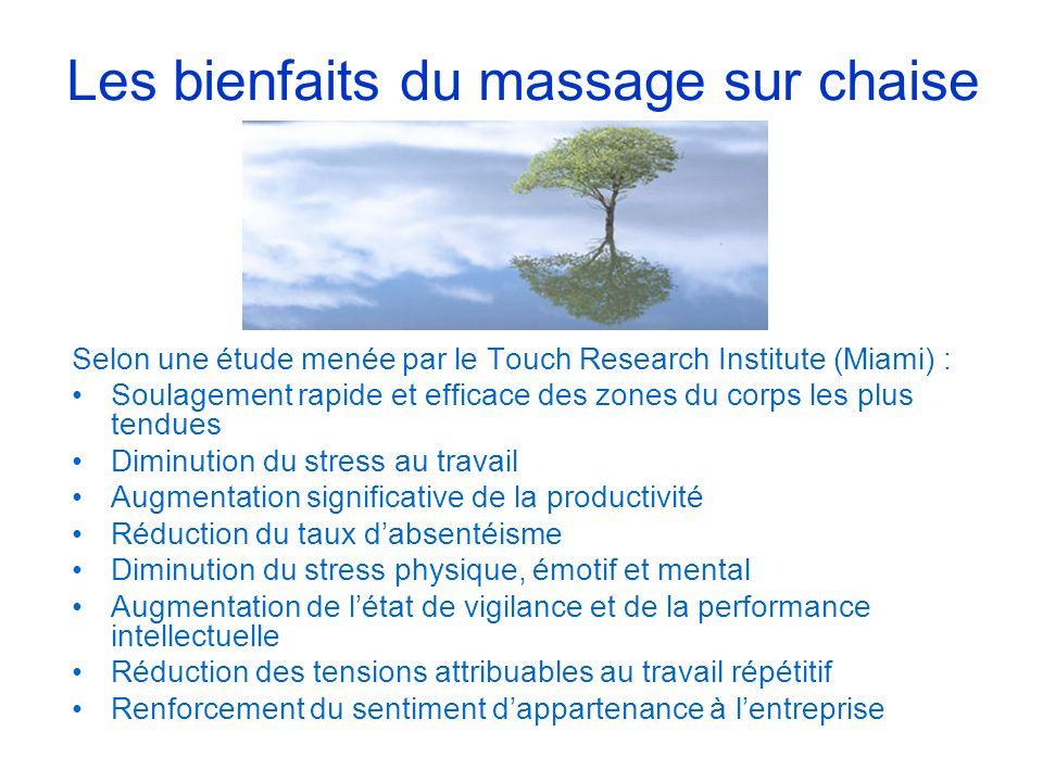 Les bienfaits du massage sur chaise