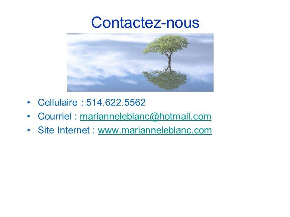 Contactez-nous Cellulaire : 514.622.5562