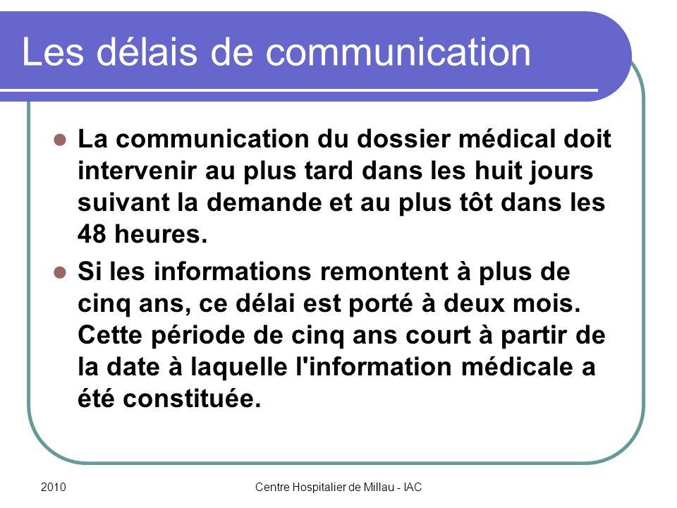 Les délais de communication