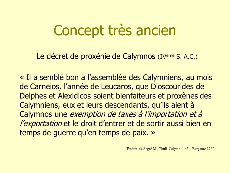Le décret de proxénie de Calymnos (IVème S. A.C.)