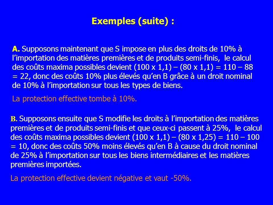 Exemples (suite) :