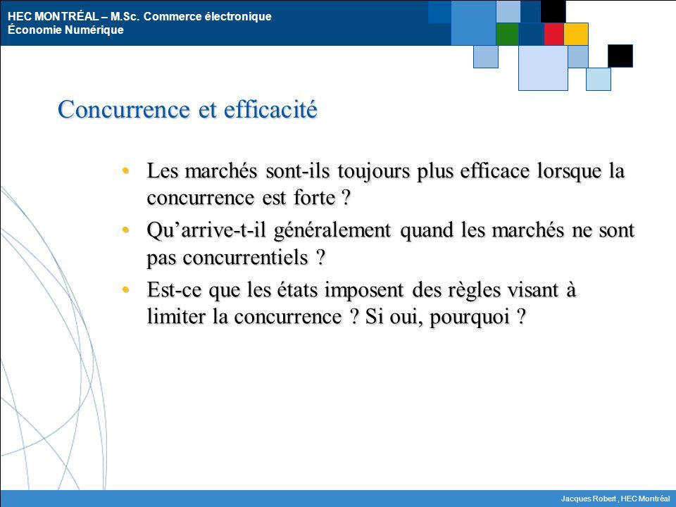 Concurrence et efficacité