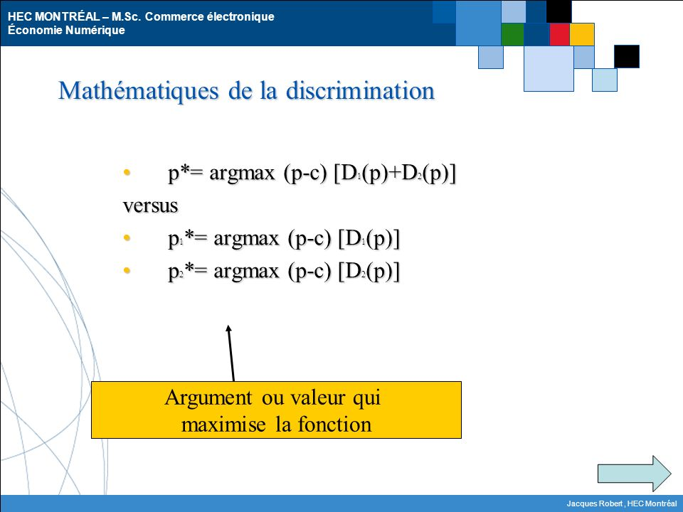 Mathématiques de la discrimination