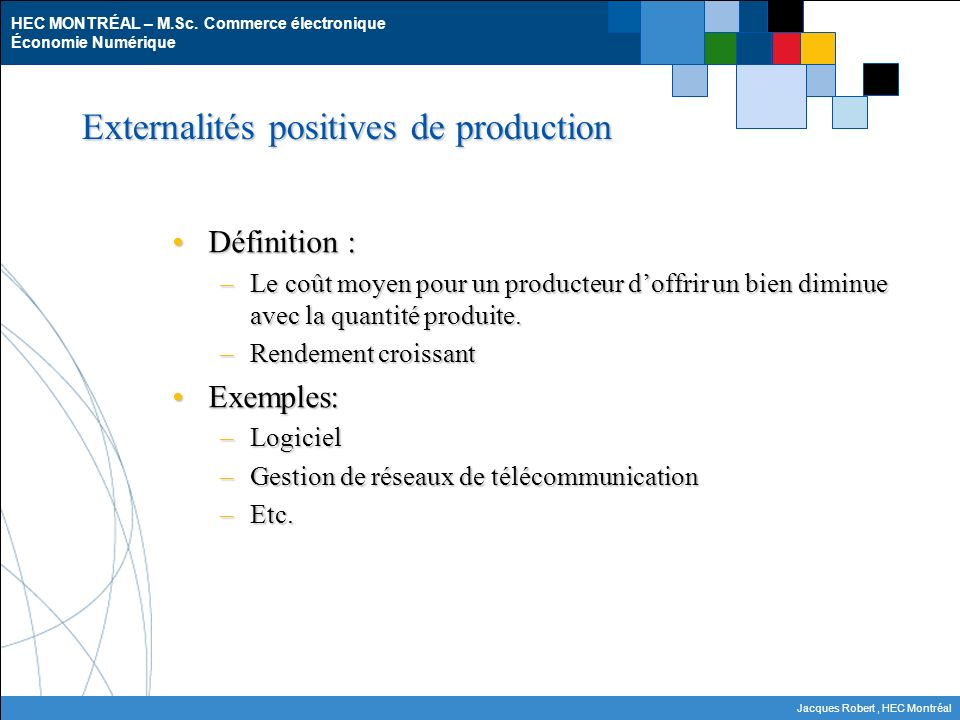 Externalités positives de production