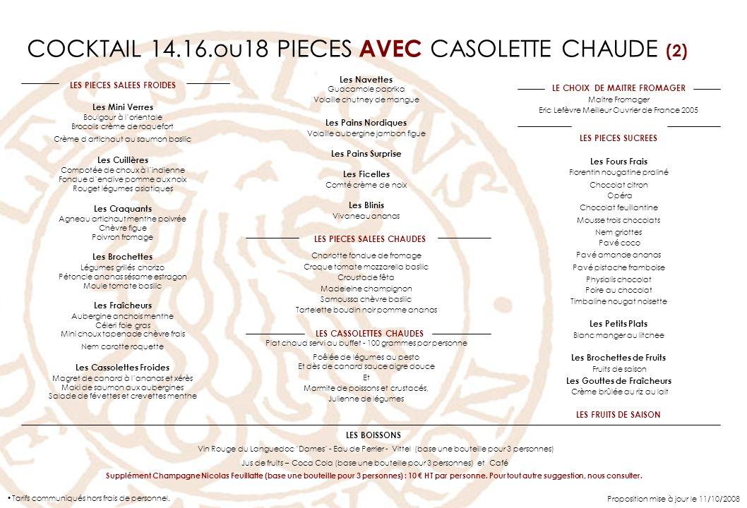 COCKTAIL 14.16.ou18 PIECES AVEC CASOLETTE CHAUDE (2)