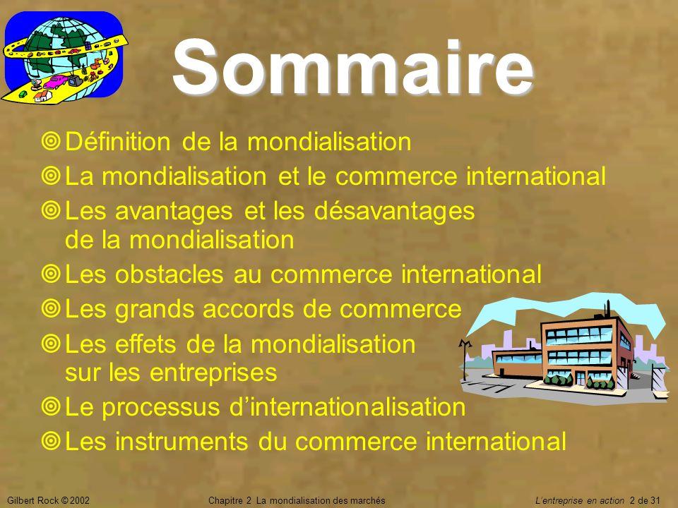 Chapitre 2 La mondialisation des marchés