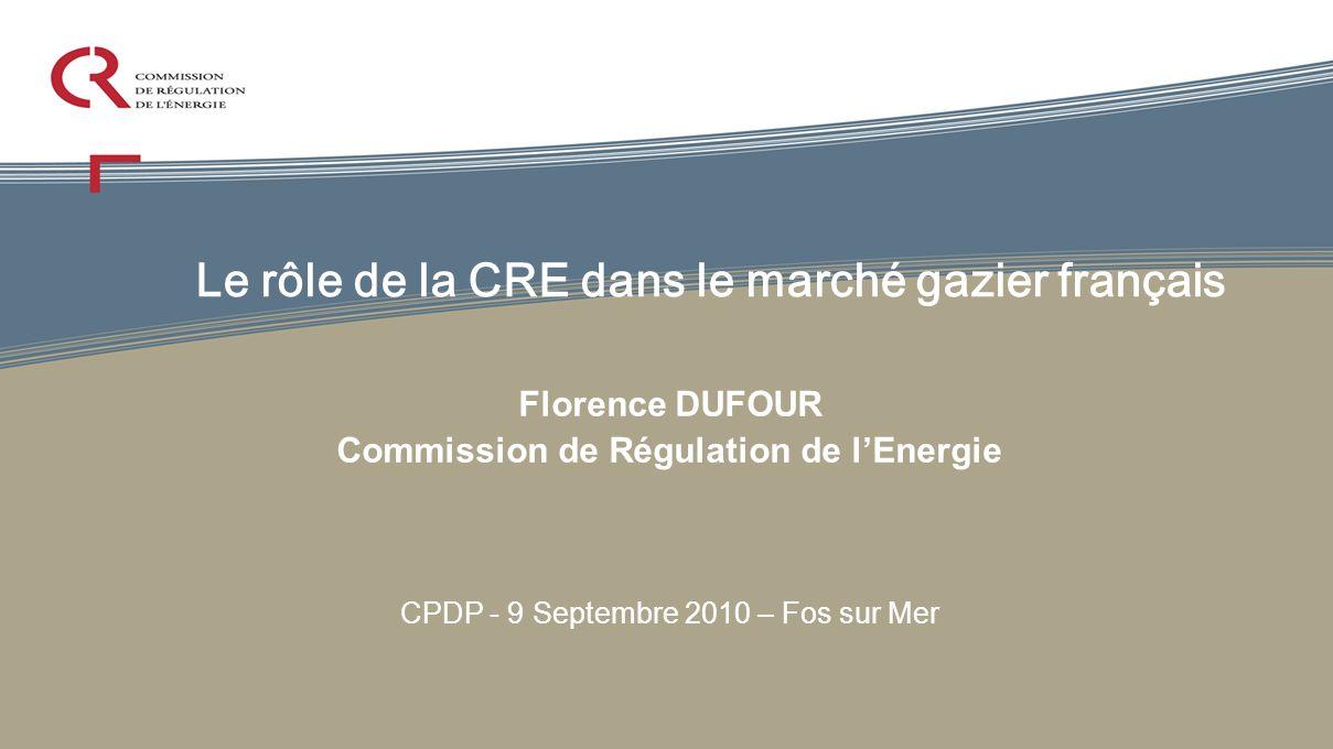 Le rôle de la CRE dans le marché gazier français