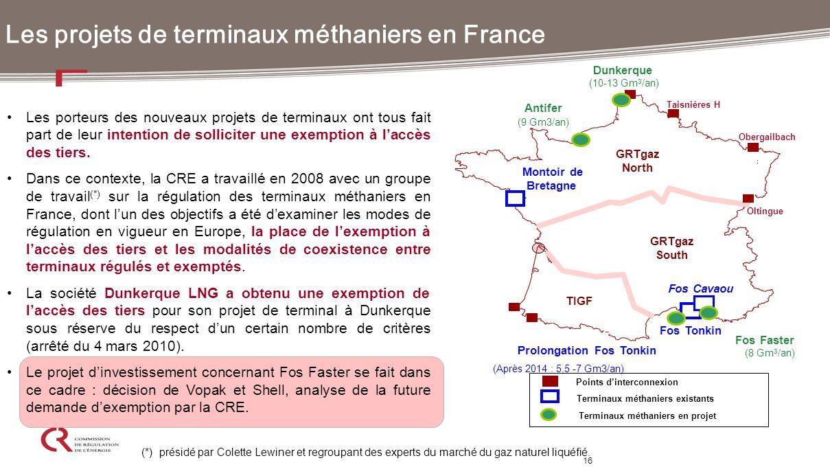 Les projets de terminaux méthaniers en France