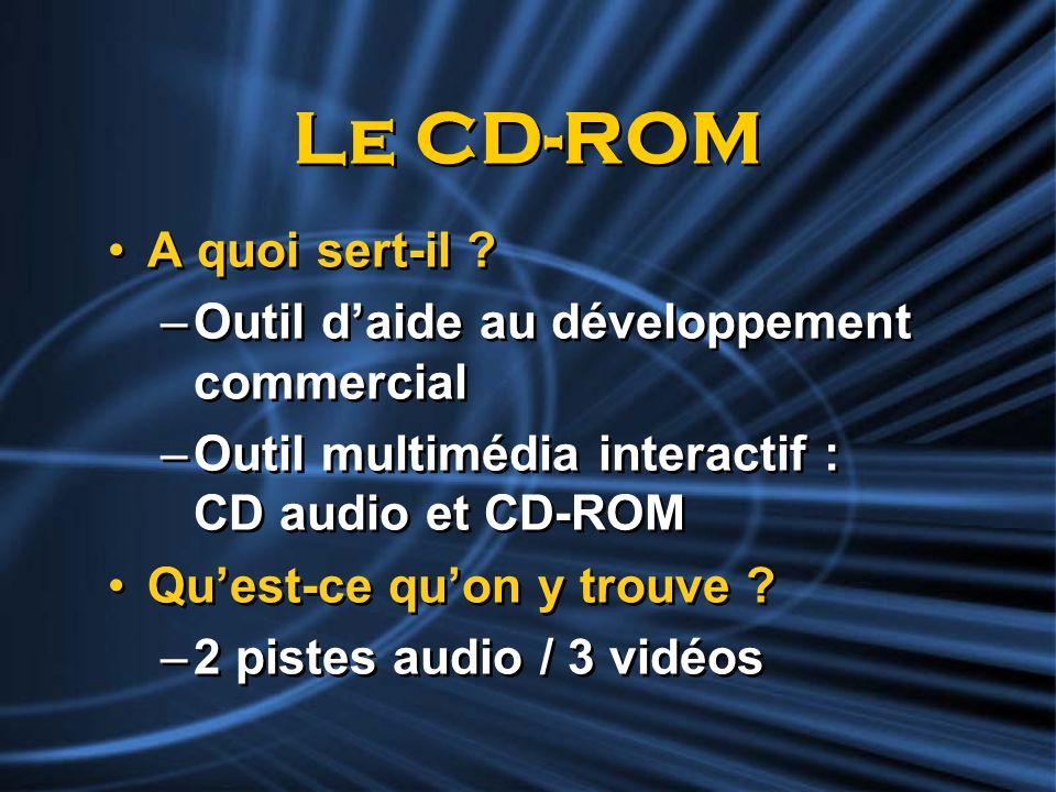 Le CD-ROM A quoi sert-il Outil d'aide au développement commercial