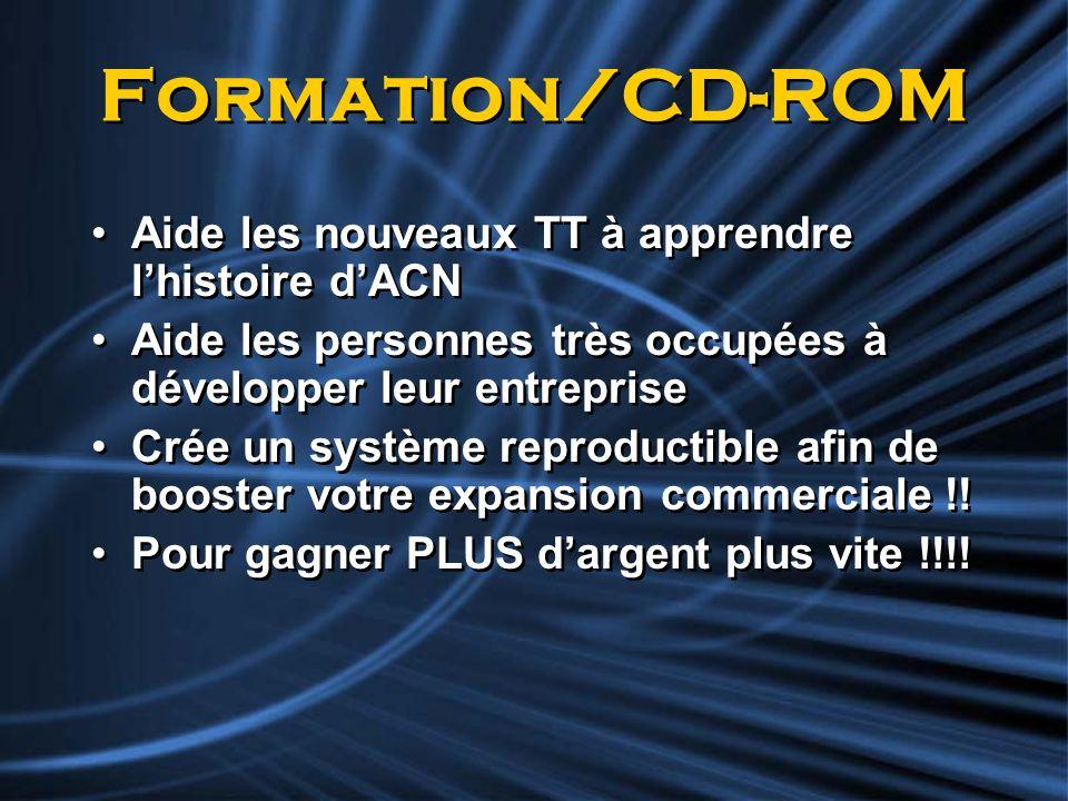 Formation/CD-ROM Aide les nouveaux TT à apprendre l'histoire d'ACN