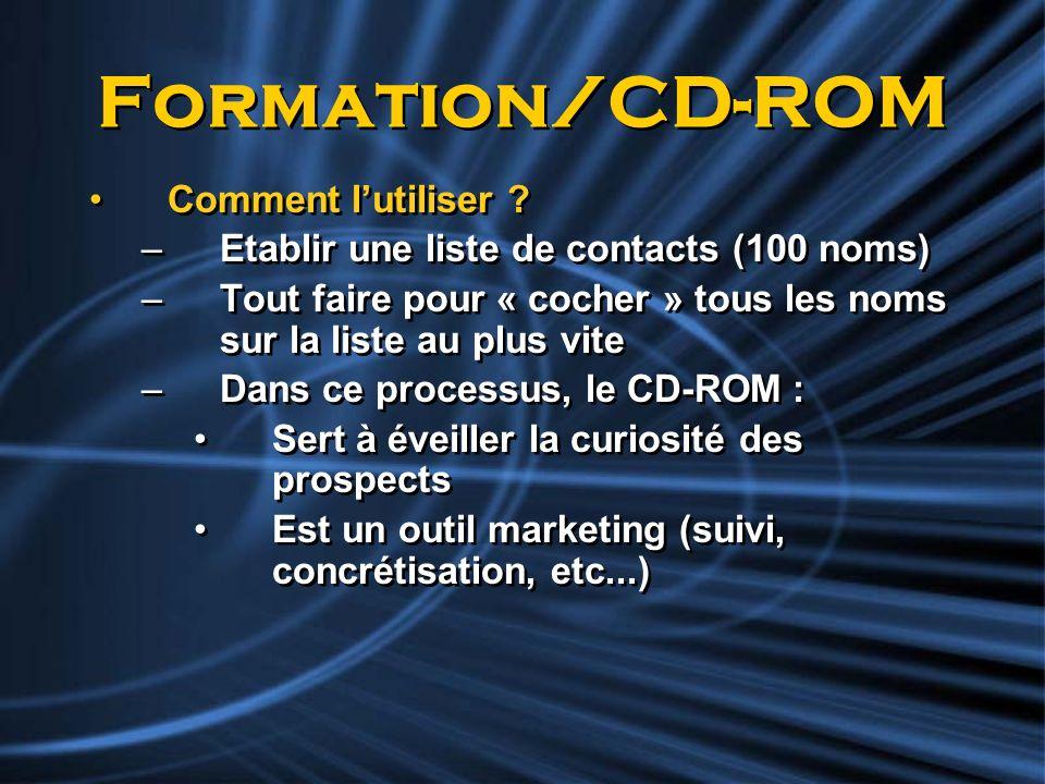 Formation/CD-ROM Comment l'utiliser