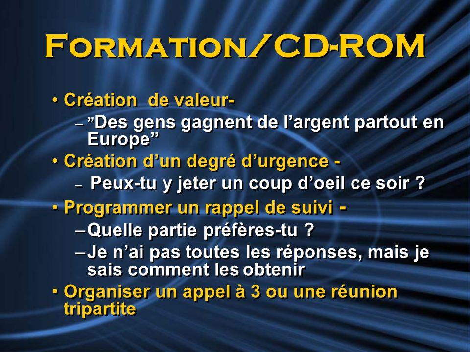 Formation/CD-ROM Création de valeur- Création d'un degré d'urgence -