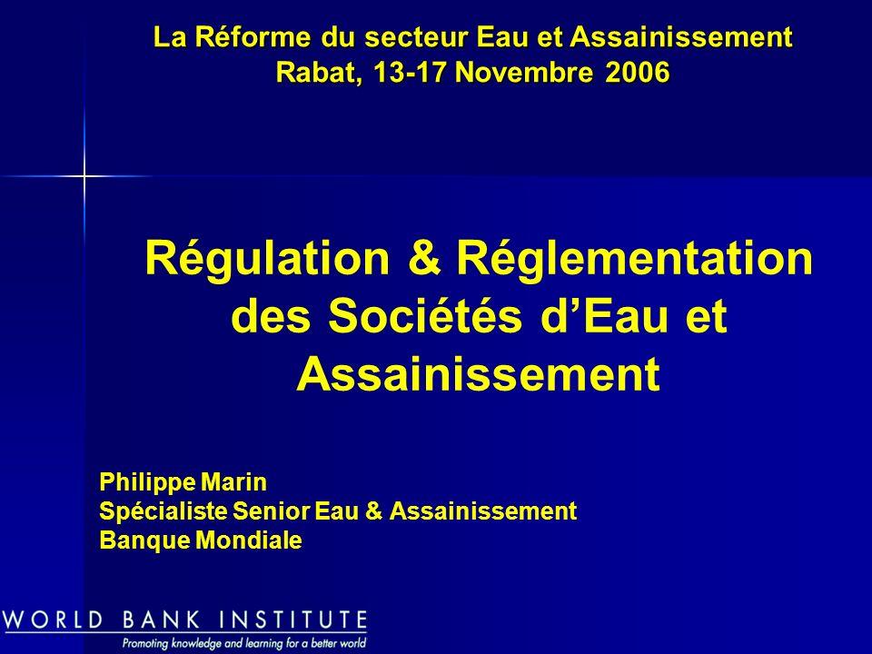 Philippe Marin Spécialiste Senior Eau & Assainissement Banque Mondiale