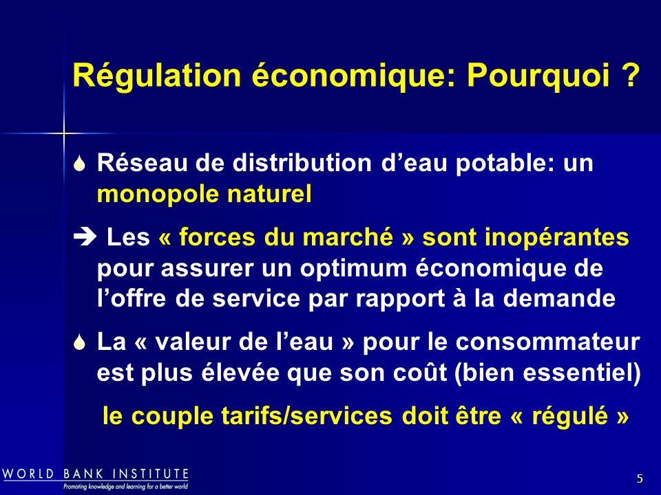 Régulation économique: Pourquoi